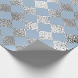 Le diamant de bijoux ajuste l'argent bleu VIP Papier Cadeau Noël
