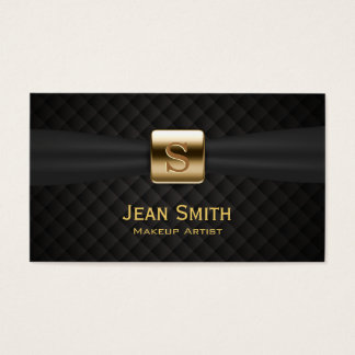 Le diamant de luxe de monogramme d'or pique le cartes de visite