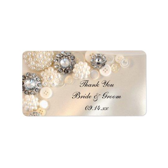 Le diamant de perle boutonne des étiquettes de