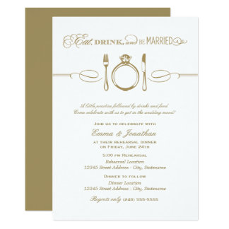 Le dîner antique | de répétition mangent la carton d'invitation  12,7 cm x 17,78 cm