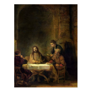 Le dîner chez Emmaus, 1648 Carte Postale