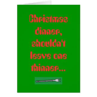 Le dîner de Noël, ne devrait pas laisser un Th… Cartes De Vœux