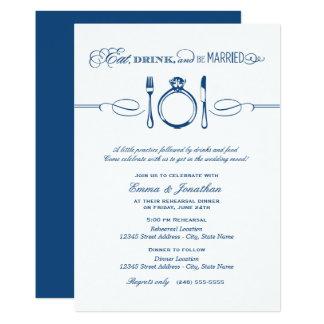 Le dîner | de répétition de marine mangent la carton d'invitation  12,7 cm x 17,78 cm