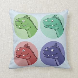 le dinosaure de couleur de quadruple dirige la oreillers