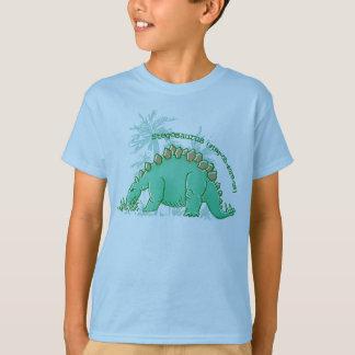 Le dinosaure indiquent le T-shirt de bleu de