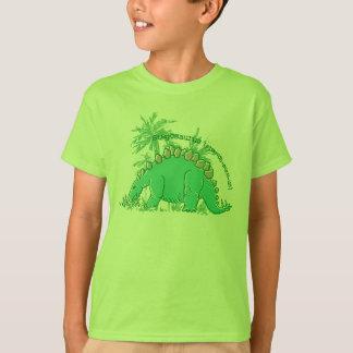 Le dinosaure indiquent le T-shirt de vert de chaux