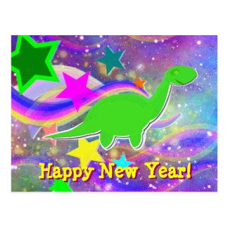 Le dinosaure se tient le premier rôle et carte postale