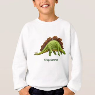 Le dinosaure vert de Stegosaurus badine le Sweatshirt