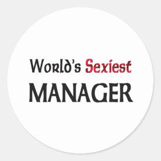 Le directeur le plus sexy du monde autocollants