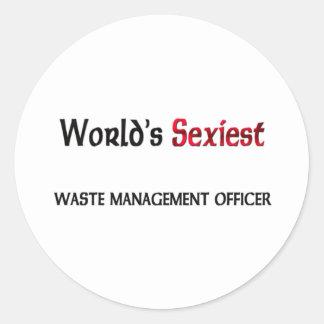 Le dirigeant le plus sexy de gestion des déchets sticker rond