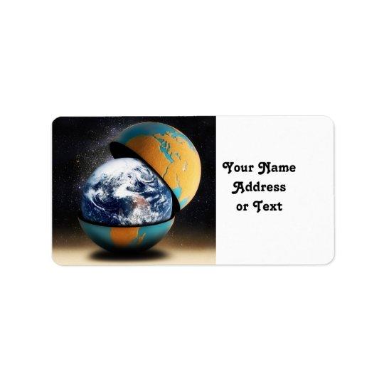Le dispositif de couverture de la terre étiquette d'adresse