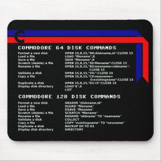 Le disque de commodore commande le tapis de souris