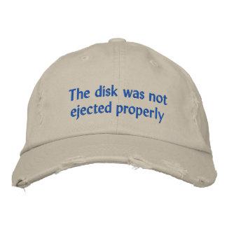 Le disque n'a pas été éjecté correctement casquette brodée