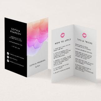Le distributeur de produit de lèvre d'aquarelle carte de visite