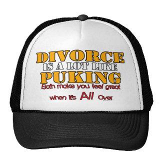 Le divorce est comme vomir casquette