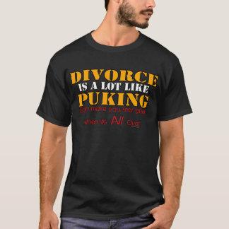 Le divorce est comme vomir t-shirt