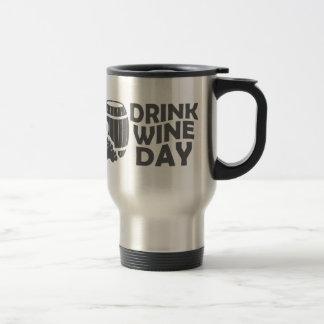 Le dix-huitième février - jour de vin de boissons mug de voyage