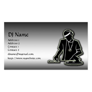 Le DJ Modèles De Cartes De Visite