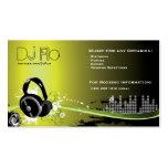 Le DJ - coordonnateur de musique de disc-jockey Modèles De Cartes De Visite