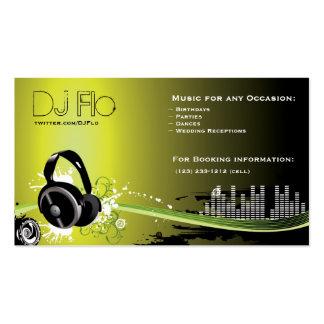 Le DJ - coordonnateur de musique de disc-jockey Carte De Visite Standard
