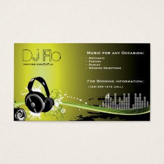 Le DJ - coordonnateur de musique de disc-jockey Cartes De Visite