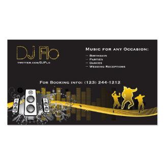 Le DJ - coordonnateur de musique de discs-jockey Carte De Visite