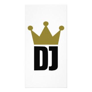 Le DJ couronnent le champion Photocarte Customisée