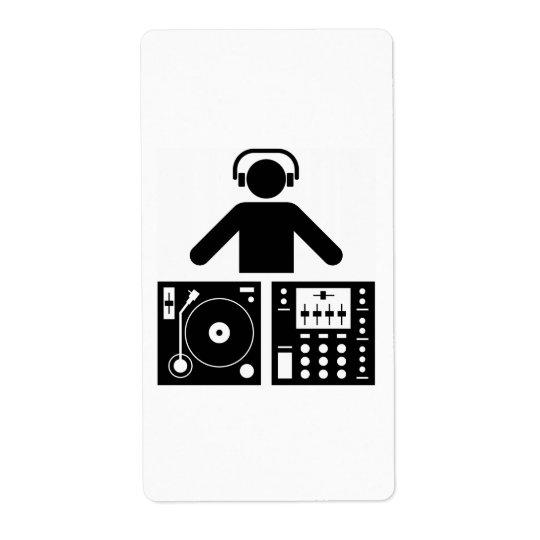 Le DJ marquent Étiquette D'expédition