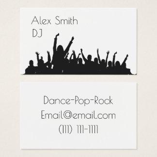 le DJ moderne party le carte de visite de danse de