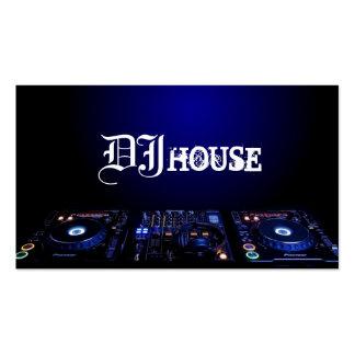 Le DJ, musique, club, carte de visite