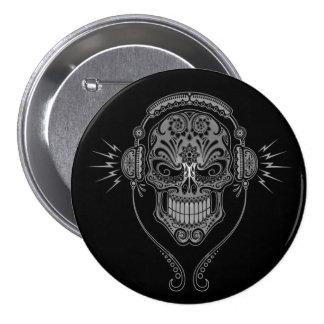 Le DJ noir sucrent le crâne Pin's