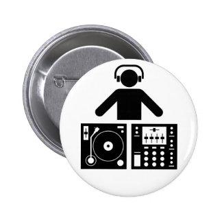 Le DJ se boutonnent Badge Avec Épingle
