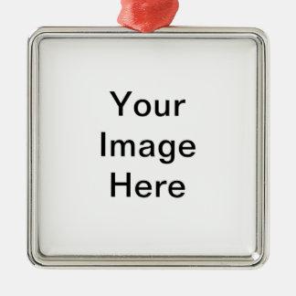 Le do-it-yourself personnalisent votre propre ornement carré argenté
