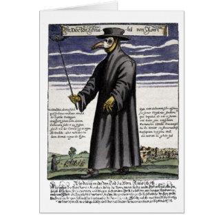 Le docteur de peste carte de vœux