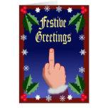 Le doigt de fête cartes de vœux