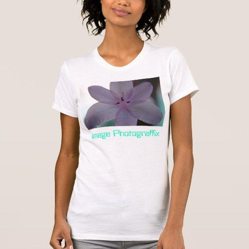 Le dopant colore la fleur t-shirt