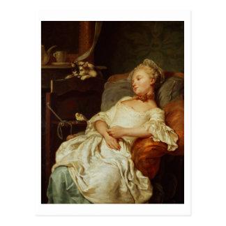 Le dormeur, 1759 (huile sur la toile) cartes postales