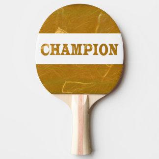 Le dos rouge Lotus d'or en caoutchouc de CHAMPION Raquette De Ping Pong