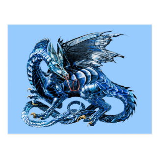 Le dragon bleu - carte postale