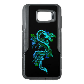 Le dragon chinois bleu Otterbox Samsung notent le