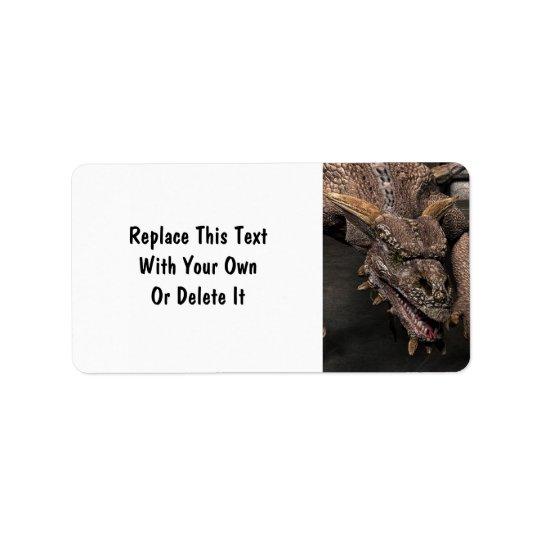 Le dragon de cul-de-sac recherche un certain dîner étiquette d'adresse