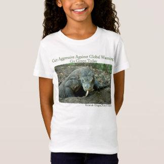 Le dragon de Komodo obtiennent le T-shirt agressif