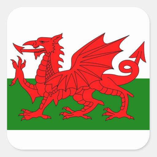 Le dragon rouge [drapeau du Pays de Galles] Adhésif