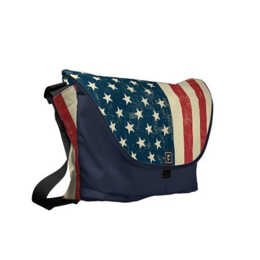 Le drapeau américain âgé s'est fané sacoche