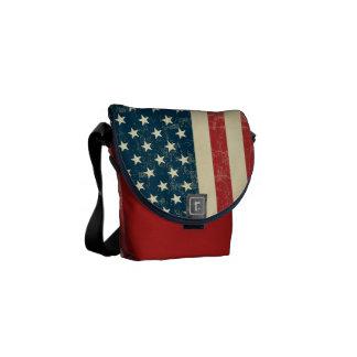 Le drapeau américain âgé s'est fané sacoches