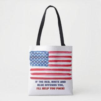 Le drapeau américain des Etats-Unis offense Sac