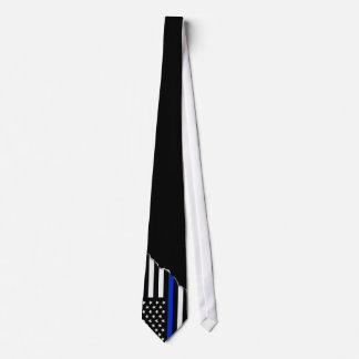 Le drapeau américain mince | de Blue Line arraché Cravates