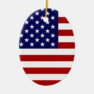 Le drapeau américain décorations pour sapins de noël