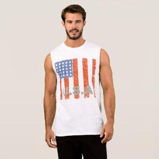 Le DRAPEAU AMÉRICAIN s'est fané T-shirt Sans Manches