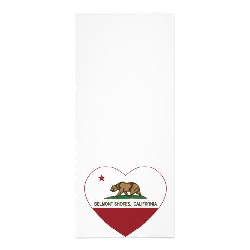 le drapeau Belmont de la Californie étaye le coeur Cartons D'invitation